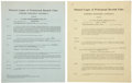 Autographs:Others, Solly Hemus and Joe Schultz Signed Contracts. ... (Total: 2 items)