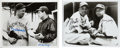 Autographs:Photos, Baseball Hall of Famers Dual-Signed Photographs Pair.... (Total: 2items)