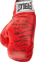 Boxing Collectibles:Autographs, Boxing Legends Signed Glove. ...
