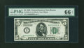 Fr. 1950-A $5 1928 Federal Reserve Note. PMG Gem Uncirculated 66 EPQ