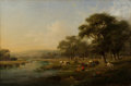 Fine Art - Painting, European:Antique  (Pre 1900), ENGLISH SCHOOL (19th Century). Pastoral Scene. Oil on canvas. 24 x 36 inches (61.0 x 91.4 cm). ...