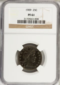 Proof Barber Quarters: , 1909 25C PR61 NGC. NGC Census: (5/201). PCGS Population (3/193). Mintage: 650. Numismedia Wsl. Price for NGC/PCGS coin in P...