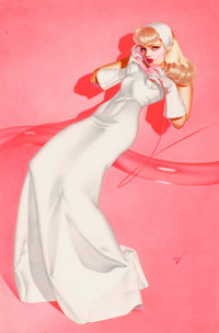 GEORGE PETTY (American, 1894-1975) Pin Up, True Magazine, 1947 Watercolor on board 22.5 x 15 in.<