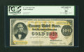 Large Size:Gold Certificates, Fr. 1215 $100 1922 Gold Certificate PCGS Apparent Very Fine 20....