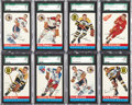Hockey Cards:Lots, 1954-55 Topps Hockey SGC-Graded Collection (13)....