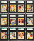 Baseball Cards:Sets, 1934-36 R327 Diamond Stars SGC-Graded Partial Set (80/108)....