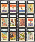 "Non-Sport Cards:Lots, 1956 Topps ""Adventure"" High Graded Near Set (99/100)...."