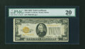 Small Size:Gold Certificates, Fr. 2402* $20 1928 Gold Certificate. PMG Very Fine 20.. ...