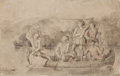 Works on Paper, CHARLES FERDINAND WIMAR (American, 1828-1862). Canoe Scene. Charcoal on paper. 13 x 20-1/2 inches (33.0 x 52.1 cm). Sign...