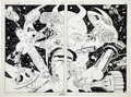 Original Comic Art:Splash Pages, Larry Lieber, Frank Giacoia and Vince Colletta MarvelSuper-Heroes #20 Splash page 18 and 19 Original Art (Marvel,...(Total: 2 Items)