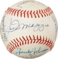 Autographs:Baseballs, 1986 Hall of Fame Induction Multi-Signed Baseball. ...