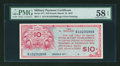 Military Payment Certificates:Series 471, Series 471 $10 PMG Choice About Unc 58 EPQ....