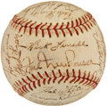 Autographs:Baseballs, 1950 Detroit Tigers Team Signed Baseball from Elden AukerCollection. ...