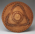 American Indian Art:Baskets, A NORTHERN CALIFORNIA TWINED PLAQUE. c. 1900...