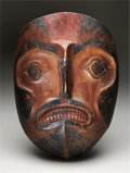 American Indian Art:Wood Sculpture, A NORTHWEST COAST POLYCHROME WOOD MASK. Probably Tlingit. c.mid-19th century...