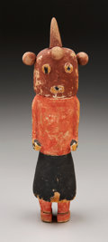 American Indian Art:Kachina Dolls, A HOPI COTTONWOOD KACHINA DOLL. c. 1885...