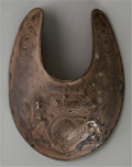 American Indian Art:Jewelry and Silverwork, AN EARLY SILVER PLATED TRADE GORGET. c. 18th century...