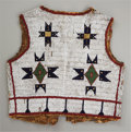 Other, A SIOUX BOY'S BEADED HIDE VEST. c. 1890...