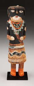 American Indian Art:Kachina Dolls, A HOPI COTTONWOOD KACHINA DOLL. c. 1915. ...