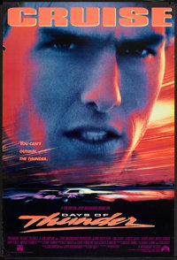 "Days of Thunder (Paramount, 1990). One Sheet (27"" X 40"") DS. Sports"