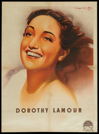 """Dorothy Lamour Personality Poster (Paramount, 1948). French Poster (23.5"""" X 31.5""""). Miscellaneous"""