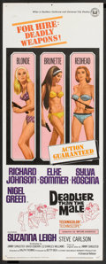"Movie Posters:Bad Girl, Deadlier Than the Male (Universal, 1967). Insert (14"" X 36""). BadGirl.. ..."