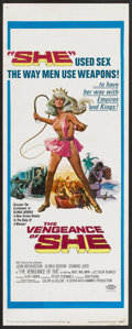"Movie Posters:Fantasy, The Vengeance of She (20th Century Fox, 1968). Insert (14"" X 36"").Fantasy.. ..."