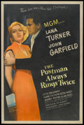 "Movie Posters:Film Noir, The Postman Always Rings Twice (MGM, 1946). One Sheet (27"" X 41""). Film Noir.. ..."