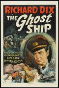 "Movie Posters:Horror, The Ghost Ship (RKO, 1943). One Sheet (27"" X 41""). Horror.. ..."