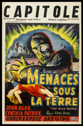 """Movie Posters:Science Fiction, The Mole People (Universal International, 1956). Belgian (13.5"""" X 21""""). Science Fiction.. ..."""