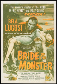 "Bride of the Monster (Filmmakers Releasing, 1956). One Sheet (27"" X 41"")"