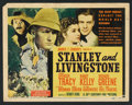 "Movie Posters:Adventure, Stanley and Livingstone (20th Century Fox, 1939). Lobby Card Set of8 (11"" X 14""). Adventure.. ... (Total: 8 Items)"