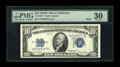 Small Size:Silver Certificates, Fr. 1705* $10 1934D Wide Silver Certificate. PMG Very Fine 30.. ...