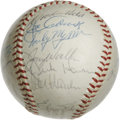 Autographs:Baseballs, 1963 Cleveland Indians Team Signed Baseball. The 1963 ClevelandIndians are represented here with the 24 signatures that ap...