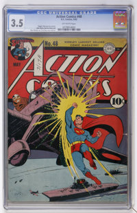 Action Comics #48 (DC, 1942) CGC VG- 3.5 Off-white pages