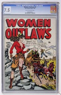 Women Outlaws #2 (Fox Features Syndicate, 1948) CGC VF- 7.5 Tan to off-white pages