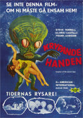 "Movie Posters:Science Fiction, Invasion of the Saucer-Men (American International, 1957). SwedishOne Sheet (27.5"" X 39.5""). ..."