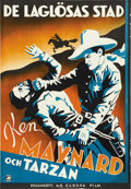 """Movie Posters:Western, The Lawless Legion (First National, 1929). Swedish One Sheet (27.5"""" X 39.5""""). ..."""
