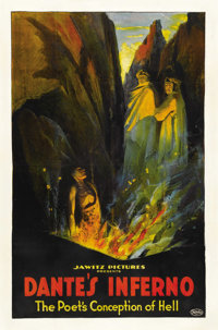 """Dante's Inferno (Jawitz Pictures Corp., 1921). One Sheet (27"""" X 41"""")"""