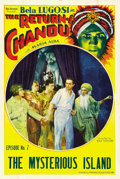 """Movie Posters:Serial, The Return of Chandu (Principal Distributing, 1934). One Sheet (27"""" X 41"""") Chapter 7 -- """"The Mysterious Island."""" ..."""