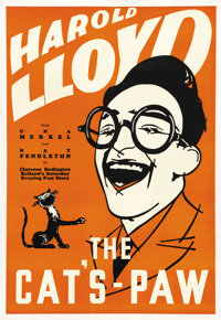 """The Cat's Paw (Fox, 1934). Leader Press One Sheet (28"""" X 41""""). Comedy"""