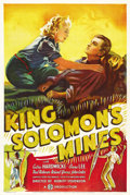 "Movie Posters:Adventure, King Solomon's Mines (Gaumont British, 1937). One Sheet (27"" X41""). ..."