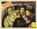 "Movie Posters:Romance, Personal Property (MGM, 1937). Lobby Card (11"" X 14""). ..."
