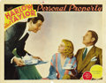 """Movie Posters:Romance, Personal Property (MGM, 1937). Lobby Cards (2) (11"""" X 14""""). ... (Total: 2 Items)"""