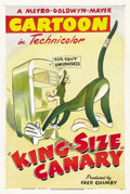 "Movie Posters:Animated, King-Size Canary (MGM, 1947). One Sheet (27"" X 41""). ..."