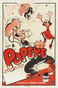 "Movie Posters:Animated, Popeye Stock Poster (Paramount, 1949). One Sheet (27"" X 41""). ..."