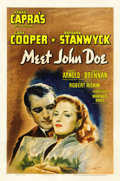 "Movie Posters:Drama, Meet John Doe (Warner Brothers, 1941). Autographed One Sheet (27"" X41""). ..."
