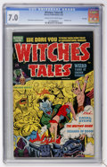 Golden Age (1938-1955):Horror, Witches Tales #9 File Copy (Harvey, 1952) CGC FN/VF 7.0 Cream tooff-white pages....