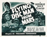 """Flying Disc Man from Mars (Republic, 1950). Lobby Card Set of 4 (11"""" X 14"""") Chapter 12 -- """"Volcanic Venge..."""