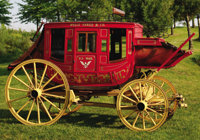 "A HEAVY WESTERN ""CONCORD"" STYLE STAGECOACH - This rare stagecoach was the work horse of the west; at one time..."